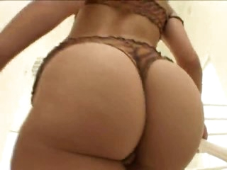 She is a total ass tease to blindfolded guy