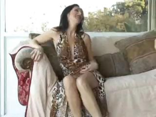 Hot brunette MILF sucks and fucks and gets a messy creampie