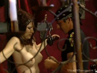 Breasty Submissive Female Acquires Tied Up and Whipped By Sadistic BDSM Master