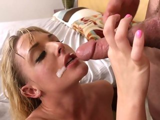 Raging Tristyn Kennedy is doused with dick milk