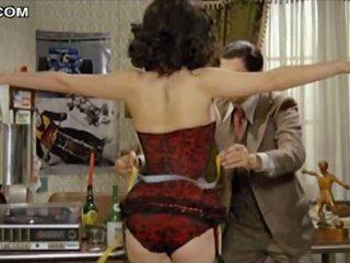 Sexy Brunette Edwige Fenech Walking Around Topless In Hawt Lingerie