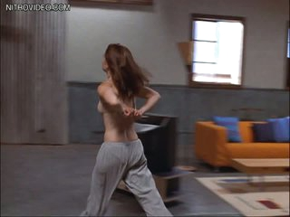 Cute Robin Tunney Takes Off Her Bra
