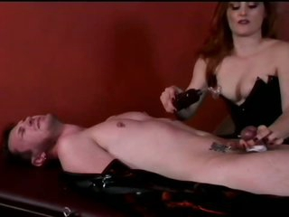 Mistress Jemini Terrorizes Tied Up Dude