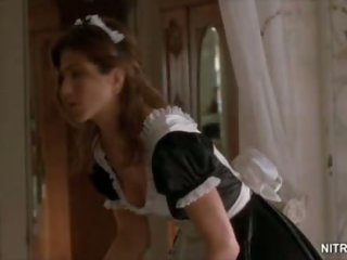 Beautiful Jennifer Aniston Looking Super Hot In a Sexually excited Maid Uniform