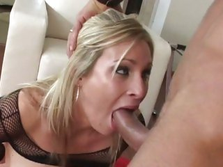 Luscious Harmony Rose chokes on a hard fuck shaft