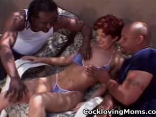 Naughty milf receives a nasty gang...