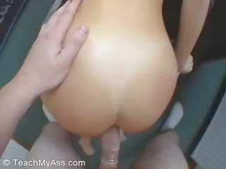 Lusty Monica gets her hot tight ass filled by a thick hard cock