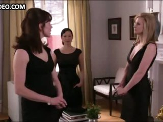 Bonnie Somerville & 3 Hot Girls in Sexy Black Dresses