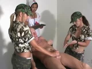 Military HJ - 2 Army Teens 1 Nurse & Old Man