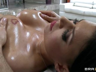 Sizzling Eva Angelina gets her massive tits massaged