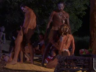 Horny Big Breasted Aborigines Get Screwed In Group Sex Orgy