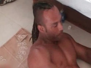 Sexy darksome Bruno Masturbating