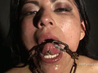 Yoha is nasty, and this babe likes it rough...watch her get banged and covered in jizz