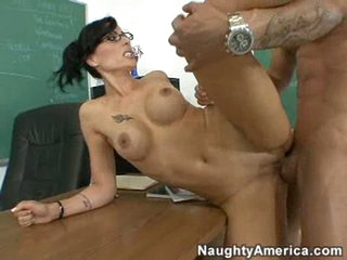 Super hot teacher Zoe Holloway getting plowed in the pussy by young dick