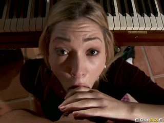 Lily Luvs take piano professor cock into her mouth