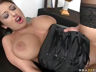 The most amazing talent of breasty Allison Star is fucking. Her fucking skills are really outstanding. Watch delicious big racked Allison Star give head and receive banged in front of other contestants.