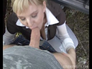 Czech Streets - Petra blowing cock