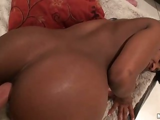 Hard white dick for Persia's perfect black ass