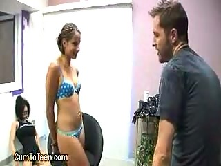 Perky College Girl Strips For Audition
