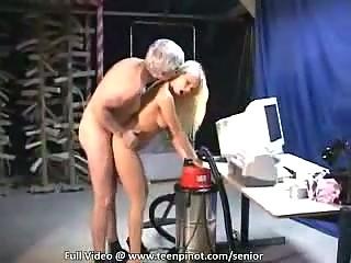 Grandpa releases his stiff boner