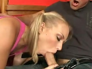 Teen Babe Melanie Jayne Grabs And Blows Cock Good Like A Pro