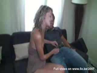Evy double penetratedher husband watching