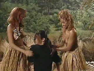 White man devoured by African tribe women