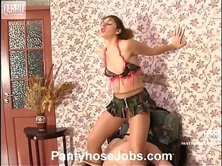 Sophia&Adam kinky pantyhose job movie