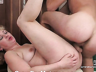 Golden-Haired mother i'd like to fuck talking a sheepish guy into steamy banging after oral foreplay