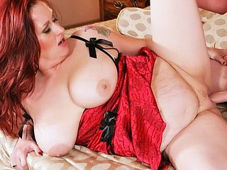 Redhead Staci gets her large scones fucked in this cum dripping scene. When u have such beautiful jugs as Staci., it's nearly a crime to not have the wrapped around a 10-Pounder at least one time a day!