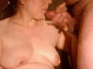 Slightly chubby mature woman sucking on a dick in this homemade sex video, and going at it hard and naughty for the camera. She then gets a very sloppy facial.