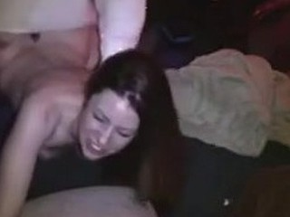 Bent over brunette GF loves to feel something hard and fat inside her asshole. The dick rips her from the back with minimum removal and short thrusts that make her ass ooze with pleasure juice.