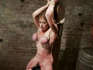 He really wants to make this woman pay for the crime that she had committed against him only he wants to pay for it many times over as he relentlessly pounds her pussy with the vibrator as she begs for mercy, but he has no mercy and he continues his assault with everything in his power.