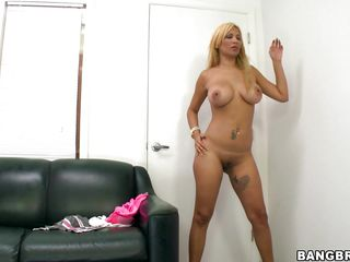 Don't miss this hot one with Paris Sweet. See this sexy blonde with her amazing round butt and big firm boobs. See this horny bitch got hard nipples as soon as the guy grabs her ass. See her play with two big dildos and putting them in her cunt and anus. Soon the guy would put his cock there. So wait and watch!
