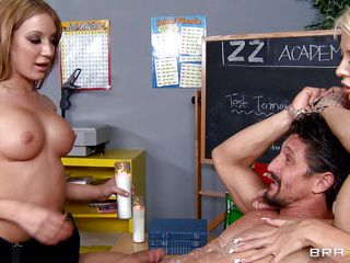 Amy Brooke gets picked on in class for being weird. Thing is, she isn't really weird, she's just a witch. Turns out Courtney Taylor is too. She helps Amy get some revenge against the teacher for how she's treated. They make him naked, hands tied, and drip hot wax on him.