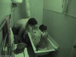Hawt fucking inside the bathtub excites horny hottie very immensely