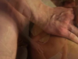 Horny stud drills lascivious cookie hole in a hawt rear fuck