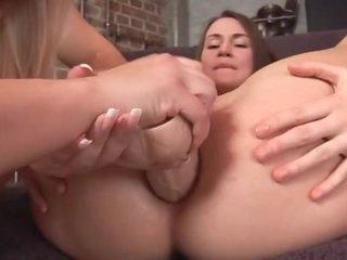 Teen anal play with a nice big dildo
