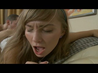 Blonde dilettante is expressive when getting fucked
