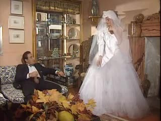 Groom fucks his bride in the white underware