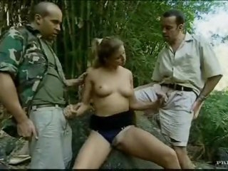 Young Monica Sweetheart threesome in the woods