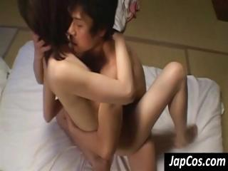 Young Asian legal age teenager gets her hairy pussy fucked hard till she screams
