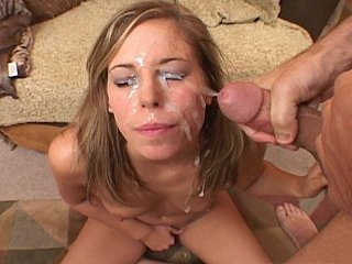 Alexa Benson acquires her face drenched in cum