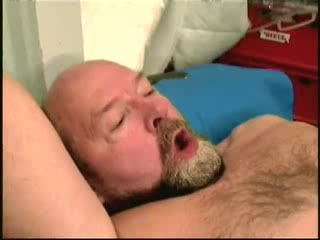 Young lady sucks old man cock